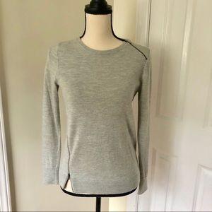 J Crew Heather Gray Wool sweater, S